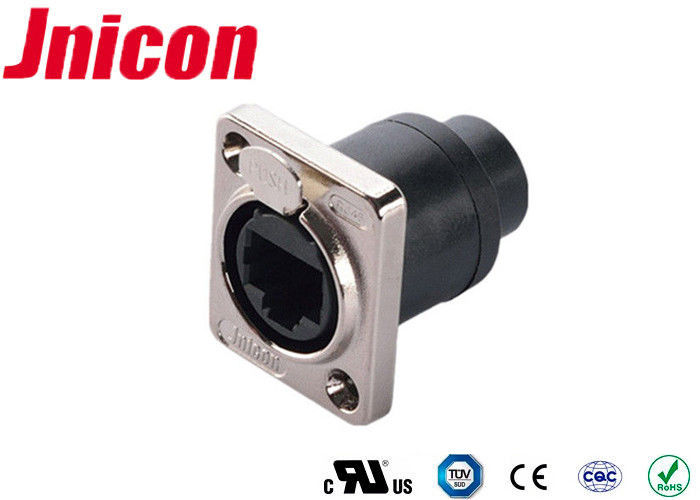 Panel Mount Waterproof RJ45 Ethernet Connector For Harsh Environments